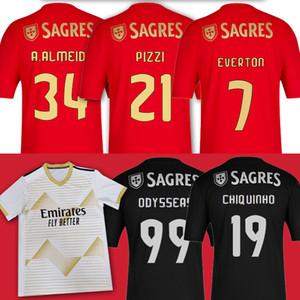 21 Pizzi Benfica Soccr Jersey Sporting CP 27 Rafa Jonas Jota Acuna Phellype Tercera camisa Camiseta de Futebol Men Kit Kit Jerseys 2020 2021