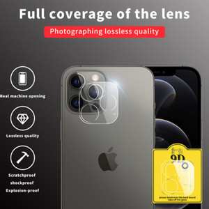 Clear lens protector for iphone 12 series tempered glass full covered scratchproof iphone 12 mini pro max back camera glass film