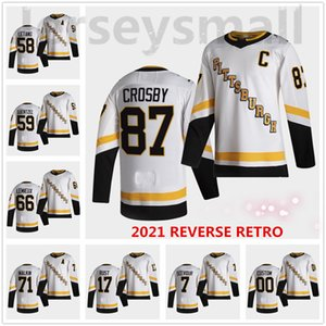 87 Sidney Crosby Pittsburgh Penguins 2021 Reverse Retro Jersey Jake Guentzel Kris Letang Lemieux Kapanen Evgeni Malkin Dumoulin Hornqvist