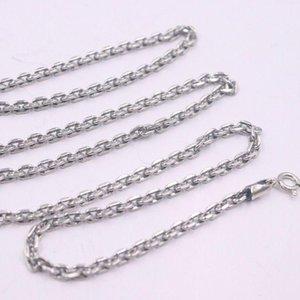 Nuova catena in argento sterling sterling sterling in puro fine uomo 3mm quadrato o collegamento collana 45-75 cm / 18-30 pollici