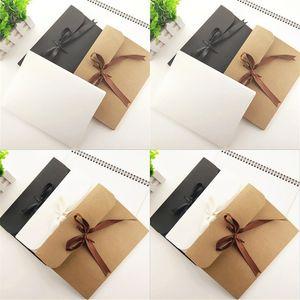 24 * 18 * 0.7 سنتيمتر كبيرة كرافت صور مغلف بطاقة بريدية مربع التعبئة والتغليف حالة أبيض ورقة هدية المغلف وشاح الحرير مع الشريط مربع dhl 8 n2