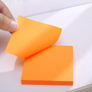 100 Sayfalar Not Kağıt Serisi Basit Katı Renk Kawaii Dergisi Kağıt Memo Pad Kendinden Yapışkanlı Okul Ofis Kırtasiye Not DHF3152