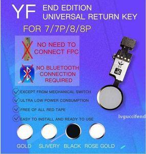 YF End Edition Universal Home Button Counte Flex Замена кабеля с полной функцией, кроме прикосновения ID для Apple iPhone 7 7Plus 8 8Plus DHL бесплатно