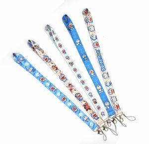 New hot 10pcs Popular Cartoon Anime Badge Lanyard Key Chain Gift Key Chain Neck Strap Keys Iphone ID Card