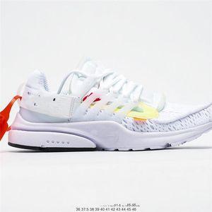 Nike Air Presto OFF-WHITE  OW Alta qualità 2020 Nuovo Presto V2 Ultra BR TP QS OFF BLACK BLACK WHITAL X Scarpe Designer Casual Scarpe a buon mercato Cuscino PRESTO DONNA DONNA UO