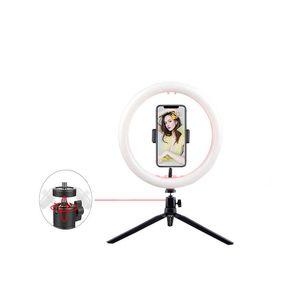 LED Ring Light Photographic Selfie Ring Lighting For Youtube Phone Tripod Clip Holder Studio USB Plug Makeup Lights