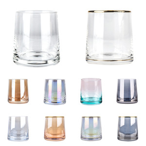 250ml Wine Home Cake Beer Glasses Ccolor Transparent Glass Cup Bar Tools Drop Shipping XD24345