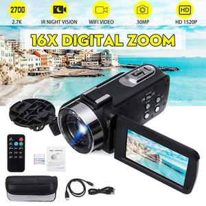 2.7K HD WiFi Video Camcorder 30MP 16X Digital Zoom 3 Inch LCD Touch Screen IR Night Vision Vlogging Recorder Digital Camera