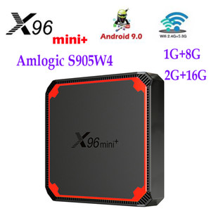 X96 MINI PLUS Amlogic S905W4 Android 9.0 TV Box 1G 8G 2GB 16GB 2.4G&5G 4K Media Player Updated X96 MINI