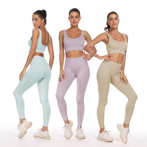 Gym Clothing Yoga Pants Leggings Workout Clothes For Women Fitness Sportswear Jump Suit Legging Two Piece Set Athletic Wear