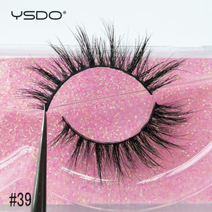 YSDO 1 Pair 3D Mink Lashes Makeup Wispy Fluffy Mink Eyelashes Natural Long False Eyelashes Extension Fake Lashes Maquillaje 39A