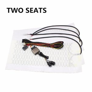 Universal Carbon Fiber Seat Heating Pad Car Heater Six-speed Knob Dual Control Switch Heated Seat Cover