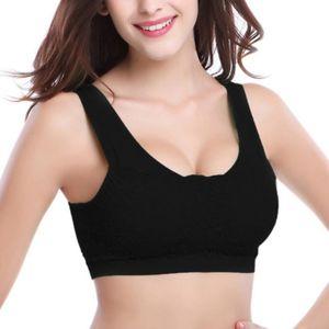 Quick Drying Seamless Sports Bra Women Absorb Sweat Yoga Bra Padded Push Up Stretch Vest Running Lace Underwear