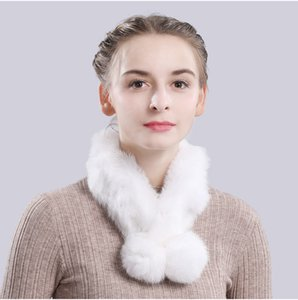 2020 New Natural Fur Scarf Women Genuine Fur Ring Scarves Handmade Lady Knitted Warm Real Neckerchief .