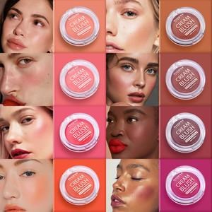 PHOERA 8 Colors Natural Lasting Blush Cream Waterproof Matte Blusher Brighten Face Contour Blush Face Makeup