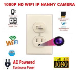 2020 HOT NUEVO NUEVO 1080P IP WiFi Cámara de enchufe multifunción Cámara de interruptor de enchufe Niñera Cámara de ama de llaves
