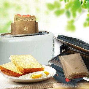 محمصة محمصة حقيبة غير عصا الخبز حقيبة ساندويتش أكياس reusable المغلفة الألياف الزجاجية نخب الميكروويف أدوات المعجنات