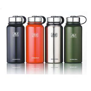 304 Edelstahl Vaccum Warme Tasse Bequeme Hand Anheben Großer Band Outdoor Sporting Flasche Kundenkunden Service