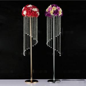 10PCS Silver Flower Vase Column Stand Metal Road Lead Wedding Centerpieces Rack Event Party Christmas Decoration 120cm 80cm