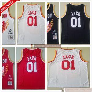 Retro Travis Scott Jointly Bleacher Report 01 Jack Jerseys Black White Red Special Cheap Hippop Basketball Mens Scott X BR X MN Jerseys