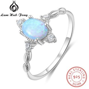 Women 925 Sterling Silver Opal Rings Female Finger Rings Cubic Zircon Silver 925 Engagement Wedding Jewelry Gifts for Girls