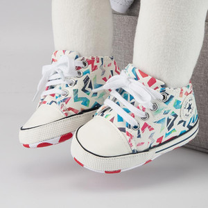 Baby Boys Girls First Walkers Shoes Infant Toddler Soft Sole Anti-slip Baby Shoes Newborn Canvas Sports Sneakers