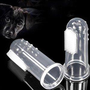 PET DE DINERO Cepillo de dientes Juguetes de perro Soft Finger Cepillo Perro Cepillo de Dientes Mala Aliento Atención Dental Tartar Pet Dog Orning PufiesL GWC4541