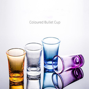 Acrylic bullet cup plastic liquor cup 4 kinds of color bar supplies creative color wine glass wine glasses T3I51561