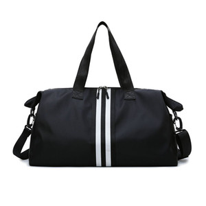2020 Fashion Woman Large Capacity Men Travel Bags Duffle Luggage Big Weekend Bag Nylon Tote Soft Stripe Zipper Packing Cubes LJ201114