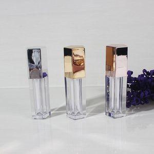 20/50 pcs vazio 4,5ml de cinco lados tampa de diamante labial tubo de brilho, plástico de alta classe batom garrafa de embalagem, lábio cosmético blamtube