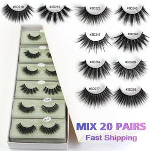 MAANGE Mink Eyelashes 20 Pairs Mix Styles 3d Natural Long False Eyelashes Wholesale Hand Made Lash Vendors Makeup In Bulk