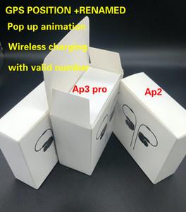 H1 earphones chip Gps Rename Air Ap3 pro Ap2 Tws Gen 2 Pods pop up window Bluetooth Headphones auto paring wireles Charging case Earbuds