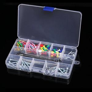 Borse di gioielli, borse 15 Grid mobile 17cm Cancella custodia custodia per perline perline orecchini contenitore collana braccialetto del braccialetto delle donne organizzano la scatola