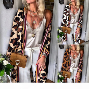 Women Cardigan Spring Autumn Leopard US And Europe Style Top Casual Long Sleeves Thin Outwear Coats Top Clothing For Ladies Wholesales