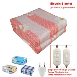 220V EU Plug Electric Heating Blanket Automatic Thermostat Double Body Warmer Bed Mattress Electric Heated Carpets Mat Heater1