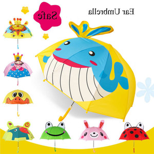 SafeBet Creative Ear Creative Enfants Mignon Dessin animé Butterfly Parapluie Enfants Animal Umbrellas Drop Shipping