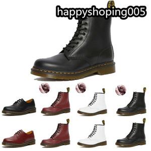 2020 моды Trend мужские ботинки черные белые красные добычие мех женские туфли зимние сапоги Martin