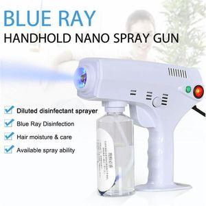 2020 Neue Heiße Handheld-Haar-Nano-Spritzpistole Blue Ray Desinfektionsmittelsterilisator 1200W Große Macht Haushaltsreinigungswerkzeuge