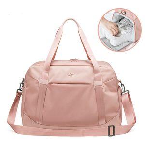 Fashion Foldable Fitness Bag Women Shoulder Duffle Travel Bag in Travel Bags Shoe Compartment Large Capacity Handbag XA786WB Z1124