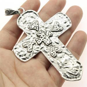 Charms Kreuz Silber Farbe Große Kreuz Charms Anhänger Schmuck Ankh Kreuz Charms für Schmuck Machen Wmtlkp Dh_Garden