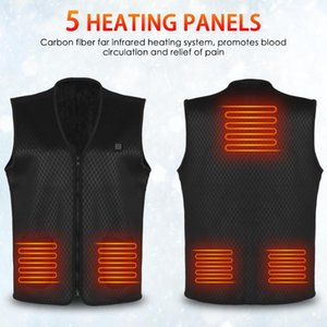 Winter Manetic Therapy Heated Vest Washable USB Electric Heating Vest Waistcoat Heated Clothing for Men and Women