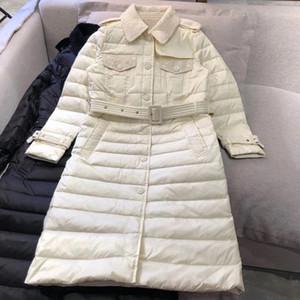2020 New Winter Lattice Single Breasted Windbreaker Classic Versatile Medium Length Down Jacket Oversized Collar Coat 11.19