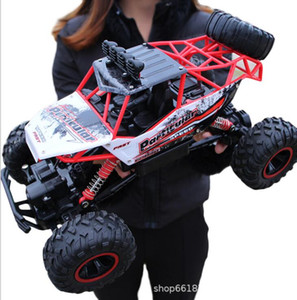 Super large alloy climbing mountain bigfoot four-wheel drive remote control toy model off-road vehicle rock climbing car children's remote c