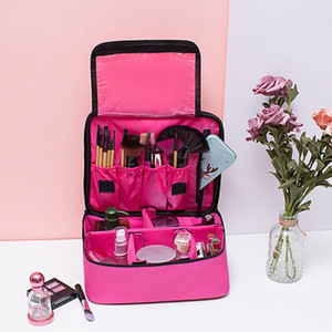 Travel Portable Zipper Organizer Large Capacity Cosmetics Case Makeup Bag Tote Waterproof Storage Oxford Cloth