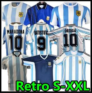 Retro 1986 1998 Argentina Soccer Jersey Messi Maradona Caniggia 1978 1996 Camisa de Fútbol Batistuta Riquelme 2006 1994 Ortega Crespo