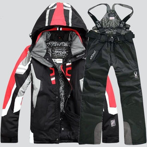NEW Men Warm Snowboarding Suits Men Winter Ski Suit Male Waterproof Breathable Snow Jacket +Pant Ski Sets set de snowboard 201204