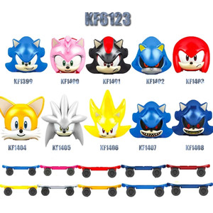 KF6123 Movie Series Anime Figure Ray Rabbit Big the Cat Charmy Bee Tikal Blaze Storm Action Figures Head Blocks Toys