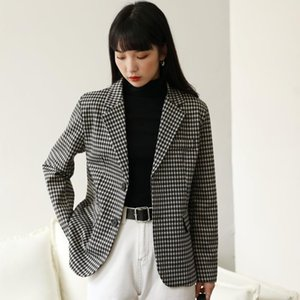Autumn and Winter Women Plaid Blazers and Jackets Work Office Lady Suit Slim Double Breasted Business Female Blazer Coat