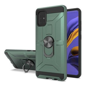 Ağır Sağlıklı Zırh Halkası Araba Montaj Tutucu Manyetik Kılıf Samsung Galaxy M30s A40S M20 A10 M10 Kapak W / Kickstand