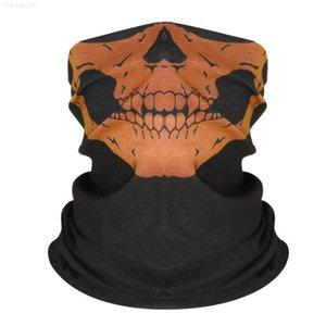 Bandana Skull Bandanas 24 Magic Designs DWet Bicycle Mask Headband Half Scarf Hip Hop Seamless Sport Headwear Face Ghost Skeleton Fgfpw